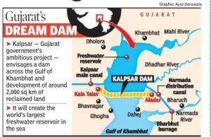 The world's longest dam will be built in the Gulf of Khambhat (December 2020)