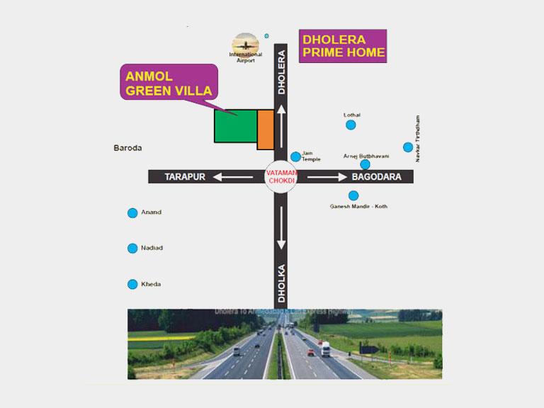 anmol green villa dholera map