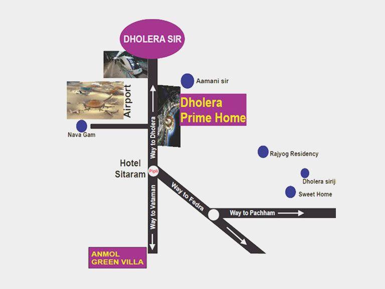 dholera prime home map