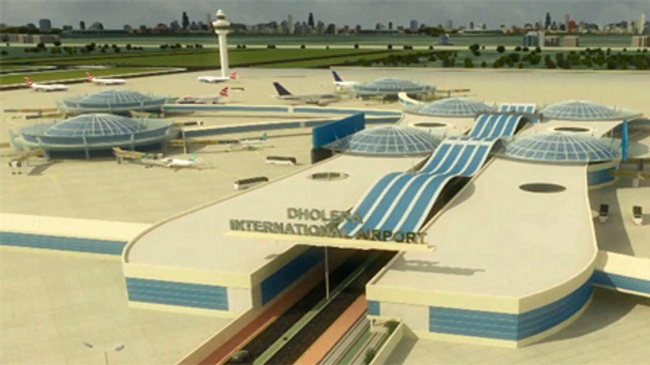 dholera international airport image-photo