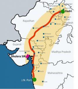 Delhi Mumbai Expressway DMIC map